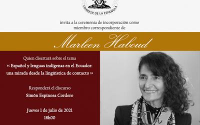 Marleen Haboud, destacada lingüista ecuatoriana, nuevo miembro de la academia