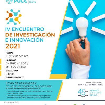 IV Encuentro de Investigación e Innovación de la PUCE Sede Ibarra