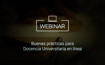 Buenas prácticas para Docencia Universitaria en línea