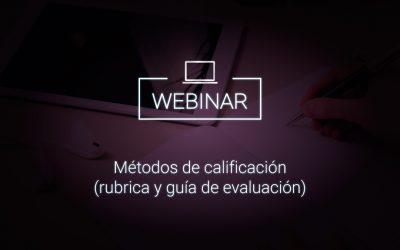 Métodos de calificación (rubrica y guía de evaluación)