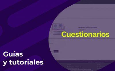 Cómo crear y configurar cuestionarios