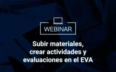 Subir materiales, crear actividades y evaluaciones en el EVA