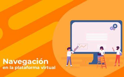 Navegación en la plataforma virtual – estudiantes