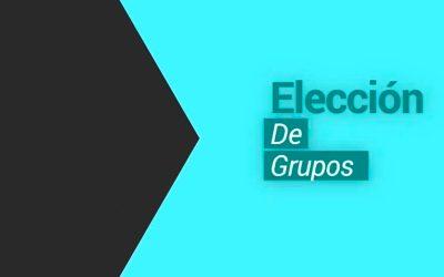 Elección de grupos